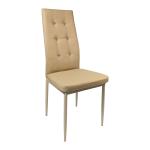 Scaun living Zen D22 diamant, bej inchis, structura solida/Promotii scaune.ro