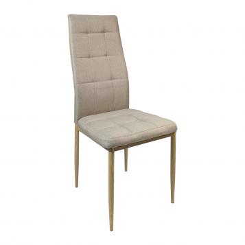 Scaun de bucatarie Zen D22 maro textil cu picioare imitatie lemn/Promotii scaune.ro