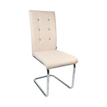 Scaun de bucatarie Zen D23 crem, piele ecologica/Promotii scaune.ro