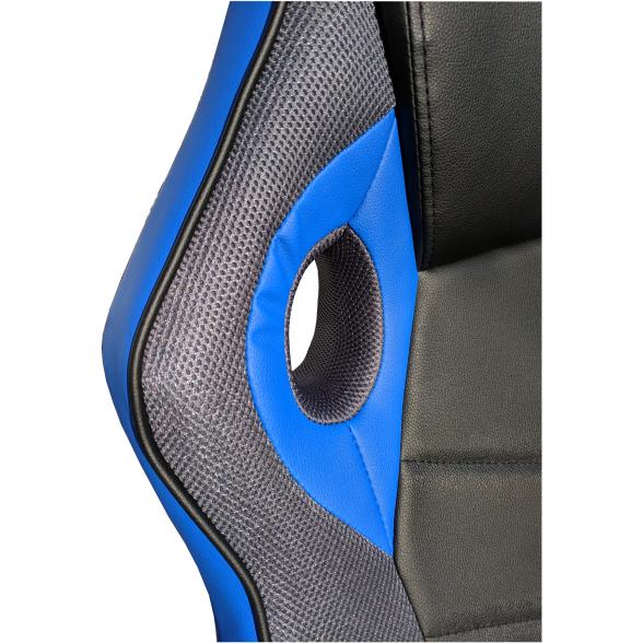 Zendeco.ro-Scaun gaming Arka B210 Black blue grey, piele ecologica si mesh