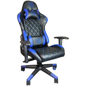 Scaun gaming Arka B56 Eagle Blue, piele perforata anti transpiratie ecologica/Promotii scaune.ro