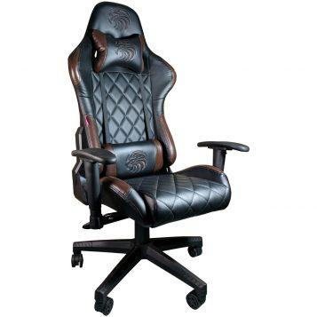Scaun gaming Arka B56 Eagle, maro, piele anti transpiratie, perforata, ecologica/Promotii scaune.ro