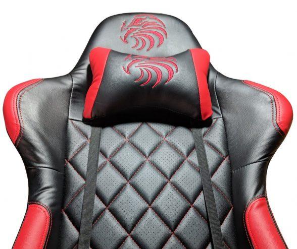 Promotii scaune.ro-Scaun gaming Arka b56 Eagle, rosu, piele perforata anti transpiratie