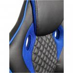 Scaun gaming Arka B107, piele antitranspiratie perforata, black blue