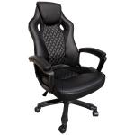 Scaun gaming Arka B107, piele antitranspiratie perforata, negru/Promotii scaune.ro