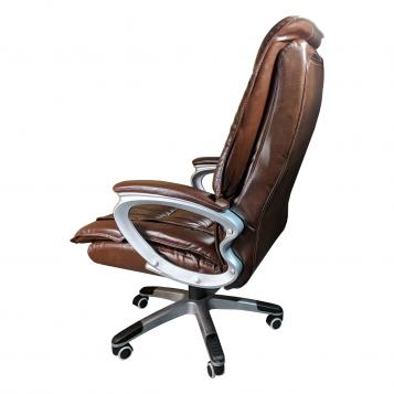 Scaun directorial Comodo B301 PRO, piele anti transpiratie perforata ecologica dark brown/Promotii scaune.ro
