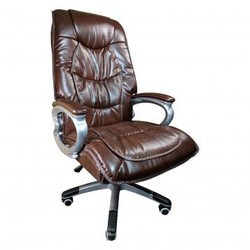 Scaun directorial Comodo B301 PRO, piele anti transpiratie perforata ecologica dark brown/Promotii-scaune.ro