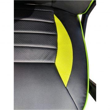 Scaun gaming Arka B101, piele antitranspiratie perforata, negru verde/Promotii scaune.ro