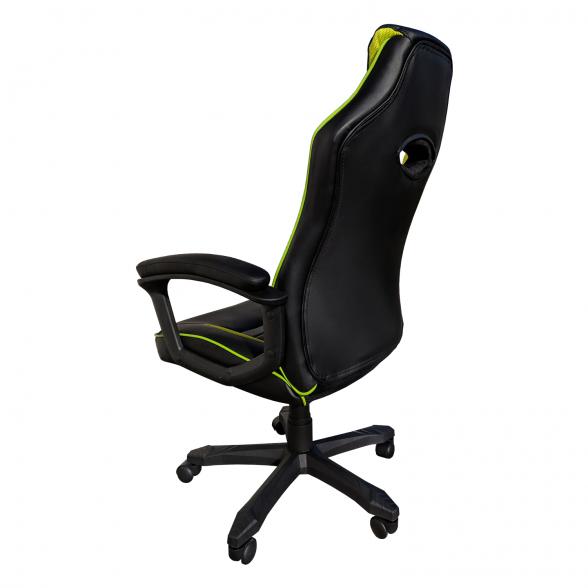 Promotii scaune.ro-Scaun gaming Arka B101, piele antitranspiratie perforata, negru verde