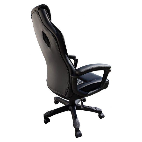 Promotii scaune.ro-Scaun gaming Arka B107, piele antitranspiratie perforata, negru