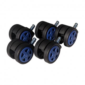 Set 5 Role plastic pentru sacune gaming black-blue/Promotii-scaune.ro