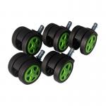 Promotii-scaune.ro-Set 5 Role plastic pentru sacune gaming black-green