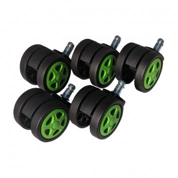 Set 5 Role plastic pentru sacune gaming black-green/Promotii-scaune.ro