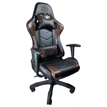 scaun gaming Arka Eagle B54 black brown-piele ecologica/Promotii scaune.ro