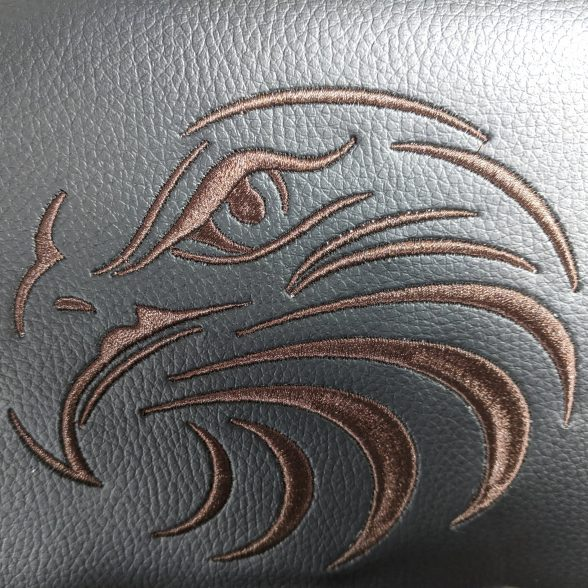 Zendeco.ro-scaun gaming Arka Eagle B54 black brown-piele ecologica