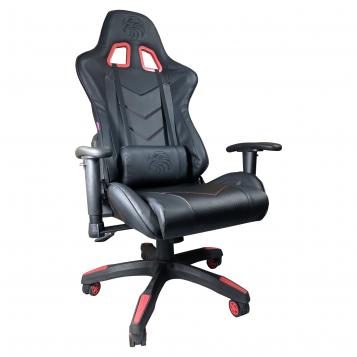 Promotii-scaune.ro/Scaun Gaming Arka B54 Eagle All black, piele antitranspiratie perforata ecologica