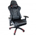 Scaun Gaming Arka B54 Eagle All black, piele antitranspiratie perforata ecologica-Zendeco.ro