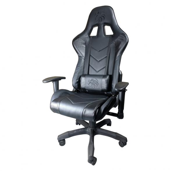Scaun Gaming Arka B54 Eagle black Carbon, piele antitranspiratie perforata ecologica-Zendeco.ro