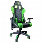 Scaun Gaming Arka B54 Eagle black green, piele anti transpiratie perforata ecologica 3-Zendeco.ro