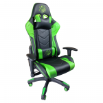 Scaun Gaming Arka B54 Eagle black green, piele anti transpiratie perforata ecologica-Zendeco.ro