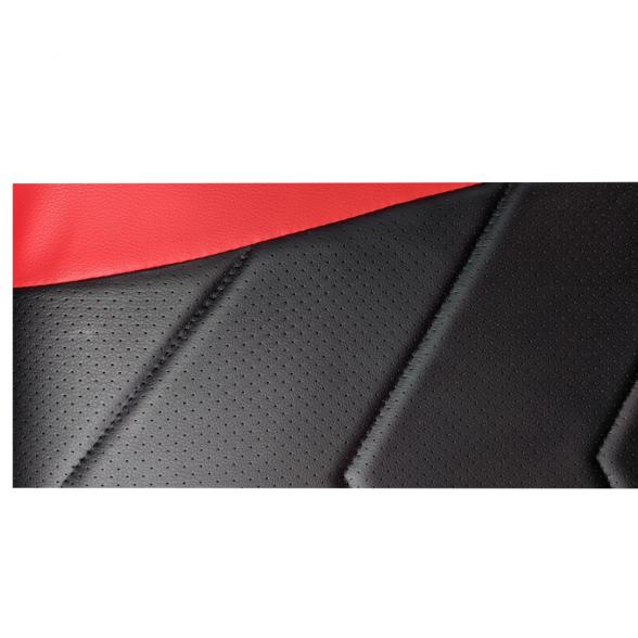 Scaun Gaming Arka B54 Eagle black red, piele antitranspiratie perforata ecologica-Zendeco.ro