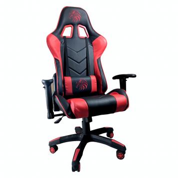 Promotii-scaune.ro/Scaun Gaming Arka B54 Eagle black red, piele antitranspiratie perforata ecologica