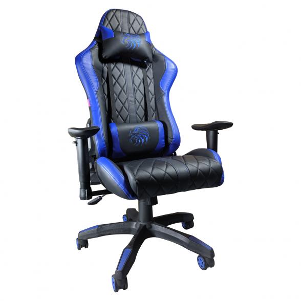 Scaun gaming Arka Aigle B52 black blue-zendeco.ro