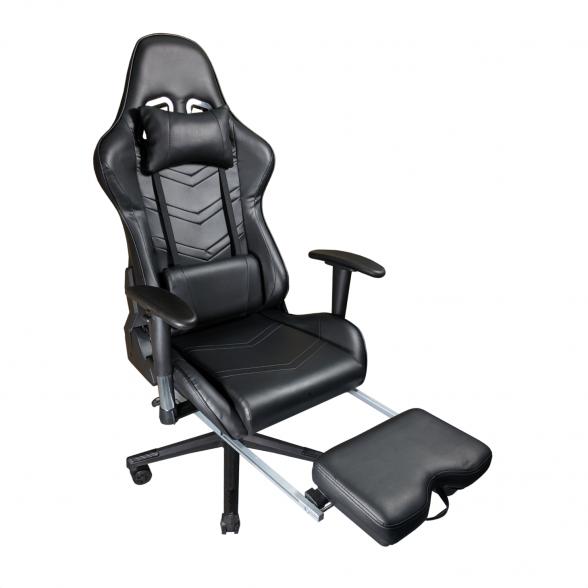 Scaun gaming Arka Line B61 black cu suport picioare-Zendeco.ro