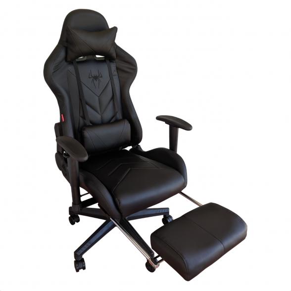 Zendeco.ro-Scaun Gaming Arka B207 SPIDER black cu suport picioare