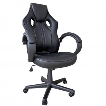 Scaun gaming Arka B211 Black, piele ecologica/Promotii-scaune.ro