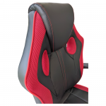 Zendeco.ro-Scaun gaming Arka B211 Black red, piele ecologica mesh