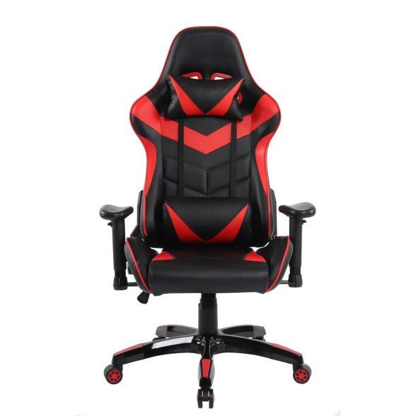 Scaun gaming Arka Chairs B57 black red, piele ecologica-Zendeco.ro