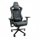 Scaun Gaming Arka Luxury B146 black brown, piele ecologica-Zendeco.ro