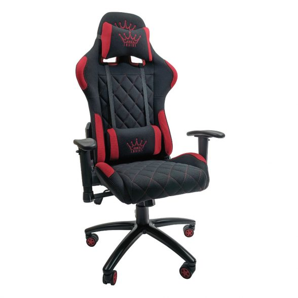 Scaun gaming Arka B56 black red textil, baza metal