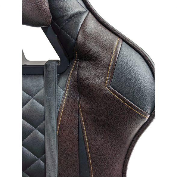 Scaun gaming Arka Chairs B60 black brown, piele ecologica-Zendeco.ro