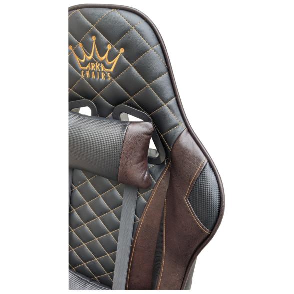Scaun gaming Arka Chairs B60 black brown, piele ecologica-Zendeco.ro2