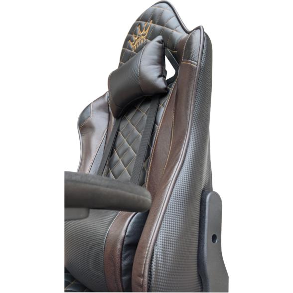 Scaun gaming Arka Chairs B60 black brown, piele ecologica-Zendeco.ro4