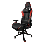 Zendeco.ro-Scaun gaming ARKA B62 black-red piele ecologica