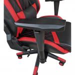 Scaun gaming Arka Chairs B58 black red, piele ecologica-Zendeco.ro