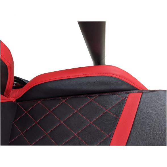 Scaun gaming Arka Chairs B58 black red, piele ecologica, sezut-Zendeco.ro