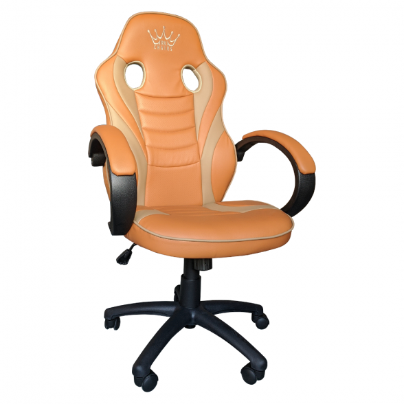 Zendeco.ro-Scaun gaming B99 maro orange, piele ecologica perforata