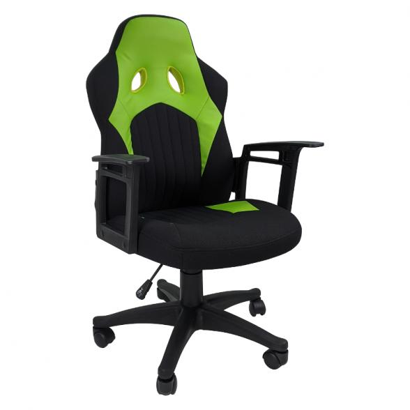 Zendeco.ro-Scaun gaming B12 textil negru verde