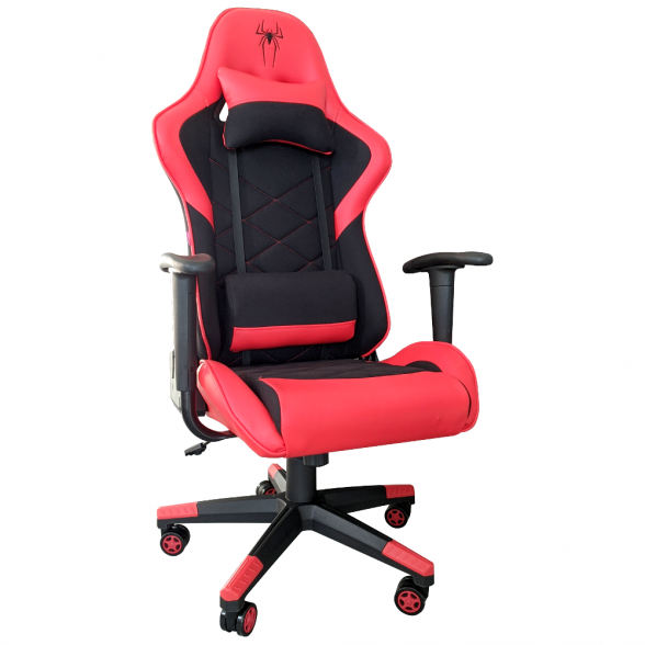 Zendeco.ro-Scaun gaming B2 Spider black red textil