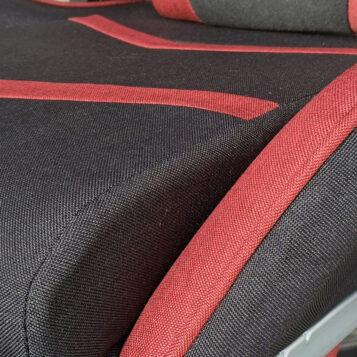 Scaun Gaming Arka Line B61 textil negru rosu cu suport picioare