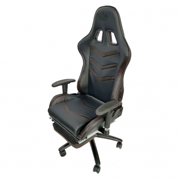 Scaun gaming Arka Line B61 black brownc u suport picioare
