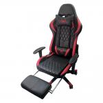 Scaun gaming B212 SPIDER BLACK RED CU SUPORT PICIOARE