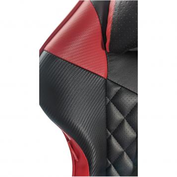 Scaun gaming B213 Spider negru rosu carbon cu suport picioare