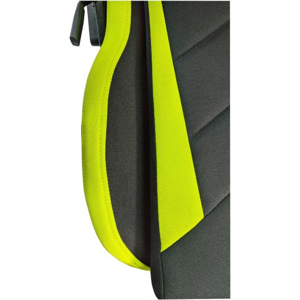 Scaune gaming B207 Spider textil negru verde cu suport picioare-Zendeco.ro