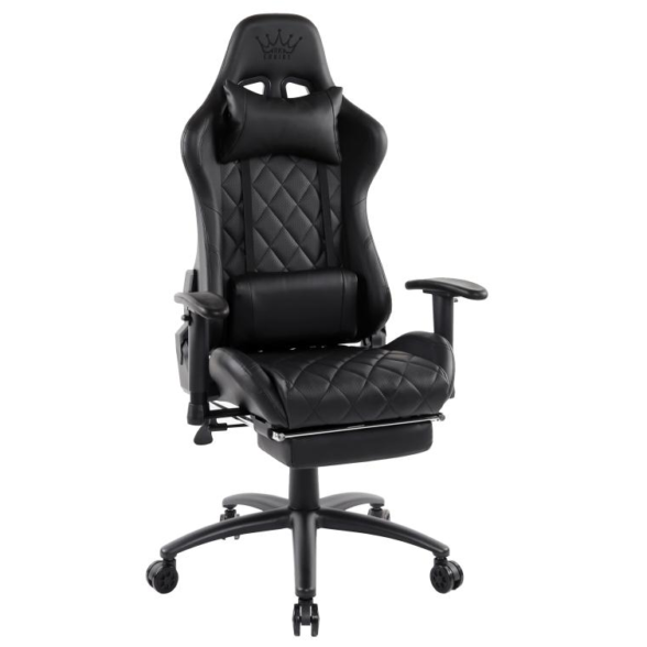 Zendeco.ro-Scaun gaming Arka B56, negru, cu suport picioare