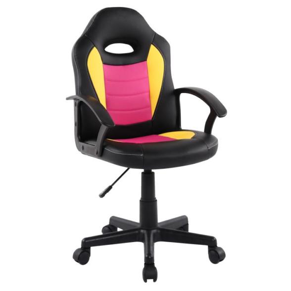 Scaun birou B11 galben roz pentru copii-Zendeco.ro